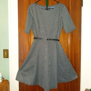 Modcloth Retro Reflections Fit and Flare dress